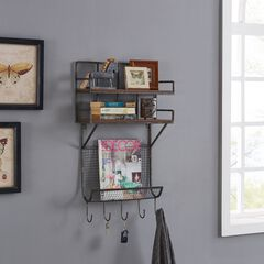 Pagosa Entryway Wall Organizer, GRAY
