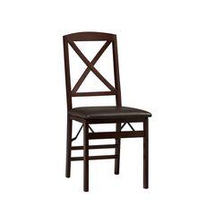 X Back Folding Chair, ESPRESSO