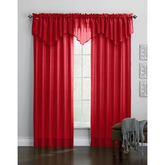 BH Studio Sheer Voile Ascot Valance, RUBY