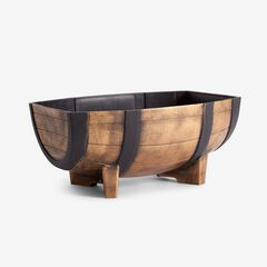 Single Large Half Barrel Planter, BRONZE