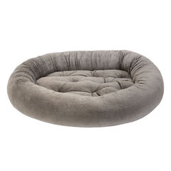 Fiona Faux-Fur Pet Bed, GRAY TEDDY
