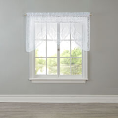 Windsor Lace Rod-Pocket Swag Valance,
