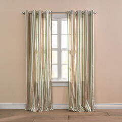 BH Studio Cotton Canvas Striped Grommet Panel, SAGE SAND