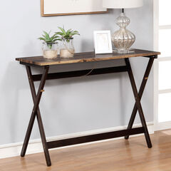 Folding Buffet Table , BROWN