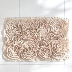 Fleur de Chic Rectangular Bath Rug, SILVER