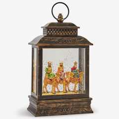 3 Wise Men Snow Globe Lantern,