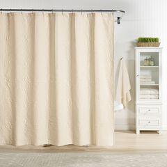 Raphaela European Matelassé Shower Curtain,