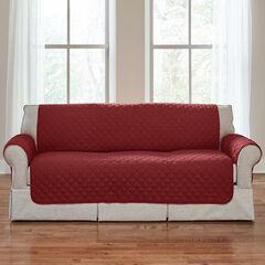BH Studio Water-Repellent Microfiber Sofa Protector, MERLOT