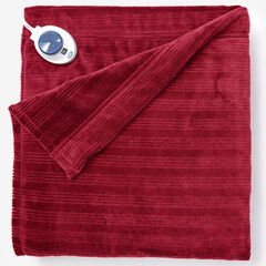 Ribbed Electric Warming Blanket by Serta, GARNET