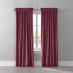 BH Studio Velvet Rod-Pocket Panel, WINE