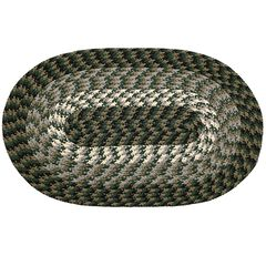 """Alpine Braid Collection Reversible Indoor Area Rug, 88"""" x 112' Oval by Better Trends, HUNTER STRIPE"""