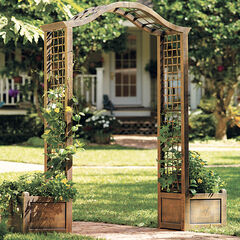 Resin Garden Arch Trellis, BRONZE
