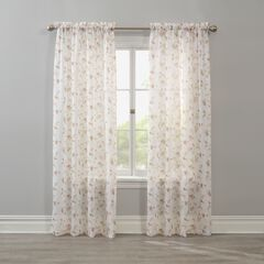 BH Studio Crushed Voile Rod-Pocket Panel, FLORAL