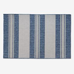 "Carmel Indoor/Outdoor Bold Stripe Rug 4'10"" x 7'6"", NAVY"