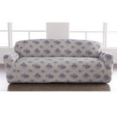 Floral Stretch Sofa Slipcover, BLUE