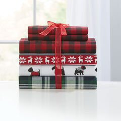 Flannel Printed Sheet Set,
