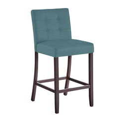 Aida Extra-Wide Bar Stool , BLUE HAZE
