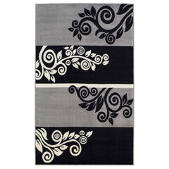 Capri Black/Grey 5' x 7' Area Rug,