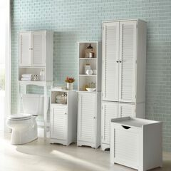 Louvre Tall Cabinet, WHITE
