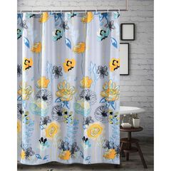 Watercolor Dream Shower Curtain by Greenland Home Fashions, GRAY