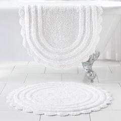 """24"""" Round Crochet Bath Mat,"""