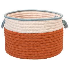Cali Stripe Tangerine Basket, TANGERINE