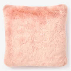 "Faux Fur Luxe 18"" Square Pillow Cover, SOFT PINK"