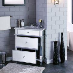 Abbington Mirrored Corner Bathroom Vanity Sink with Drawers,