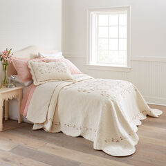 Felisa Embroidered Bedspread, IVORY