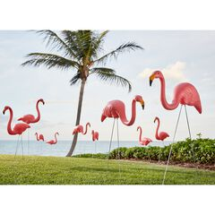 Set of 10 Flamingos, PINK