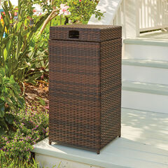 Santiago Wicker Trash Can,