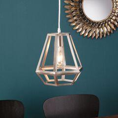 Draco Caged Lantern Pendant Lamp, NICKEL