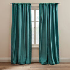 Taffeta Rod-Pocket Panel, PINE GREEN