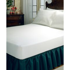 Fresh Ideas Fitted Vinyl Mattress Protector, WHITE