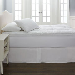 "Snuggle® 3"" Memory Fiber Topper & Pillow Set , WHITE"