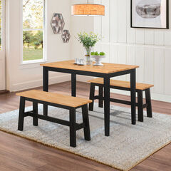 New York Table & 2 Benches,