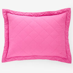 BH Studio Reversible Quilted Sham, FUCHSIA GREEN APPLE