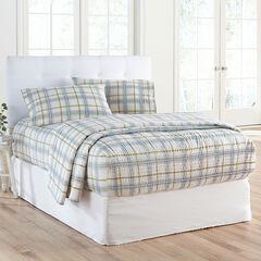 Bed Tite™ Flannel Sheet Set, LIGHT BLUE PLAID