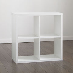 Eve 4-Cube Cubby, WHITE