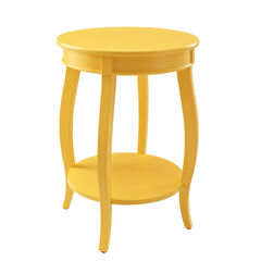 Round Table with Shelf, YELLOW