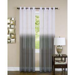 Essence Window Curtain Panel, CHARCOAL