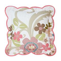 "Jardin 16"" Decorative Pillow, WHITE PINK"