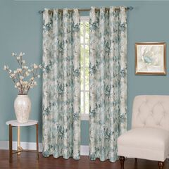 Tranquil Lined Grommet Window Curtain Panel, MIST