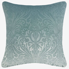 Embossed Panne Velvet Decorative Pillow, DUCK EGG