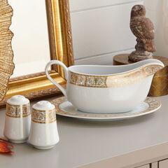 Medici 4-Pc. Porcelain Serving Set, GOLD WHITE
