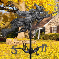 Flying Witch Garden Weathervane, BLACK