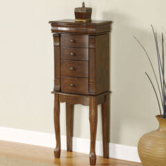 Louis Philippe Walnut Jewelry Armoire,