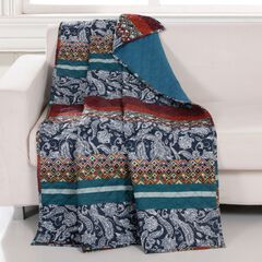 Barefoot Bungalow Vista Quilted Throw Blanket, MULTI