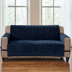 Plush Ultimate Loveseat Protector, NAVY