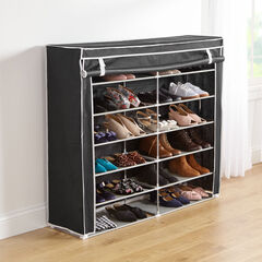 Eve Double Shoe Rack, BLACK